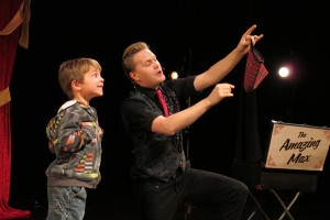A family friendly interactive magic show playing off-brodway