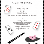 The Amazing Max Sample Magic Birthday Party Invitation
