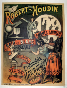 A magic show poster for the famous magician Robert-Houdin.